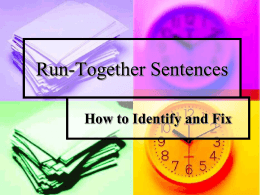 Example of run-together sentences