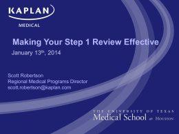 Making Your Step 1 Review Effective 2014 shared version