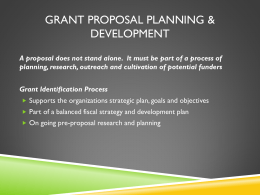 Grant Proposal Planning & Development Presentation
