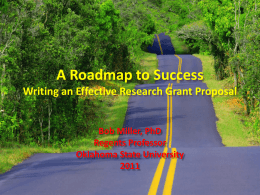 Writing an Effective Research Grant Proposal