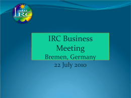2010 Business Meeting Presentation