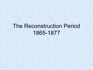 The Reconstruction Period
