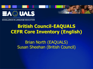 British Council-EAQUALS CEFR Core Inventory (English)