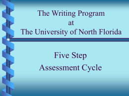 The University of North Florida Writing Program