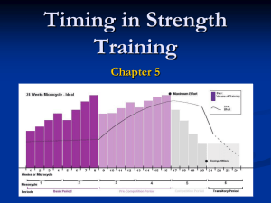 Chapter 5 Timing in Strength Training