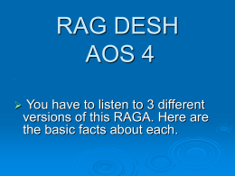 RAGA DESH AOS 4 - Musical Meanderings