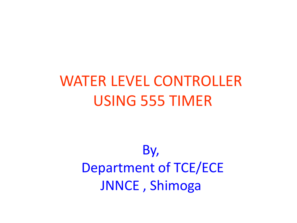 Motor Control Using 555 Timer Internal Circuit Of Ic