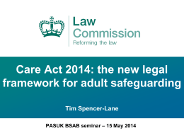 Presentation 1 – The Law Commission – Tim Spencer-Lane