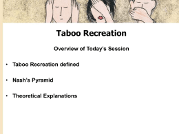 Taboo Recreation