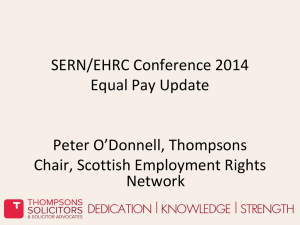 Peter O`Donnell - Equality and Human Rights Commission