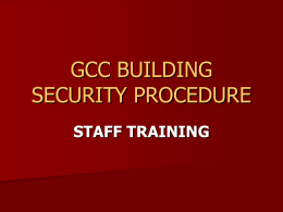 GCC BUILDING SECURITY PROCEDURE