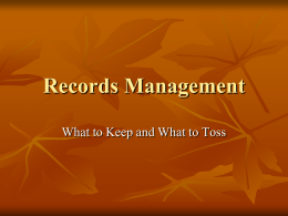 Records Management Web Site - Northern Michigan University