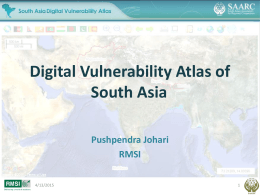 Digital vulnerabilitz atlas of South Asia [PPT, 2.05