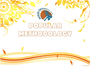 popular methodology