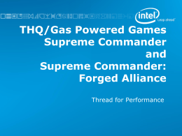 GDC tutorial - GPG Supreme Commander threading case study