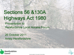 Modification Orders - Herefordshire Council