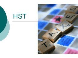 Accounting for HST