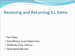 Receiving and Returning ILL Items