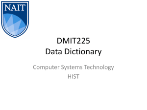 Data Dictionary PPT