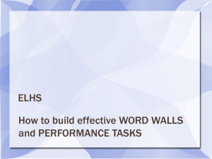 How to build effective word walls