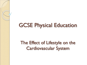 GCSE Physical Education Healthy active lifestyles & how
