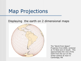 Map Projections Lecture (Sept 16)