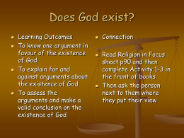 GCSE activity on Does God exist?