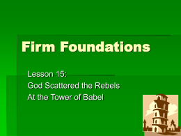 Lesson 15: God scattered the rebels at the tower of Babel