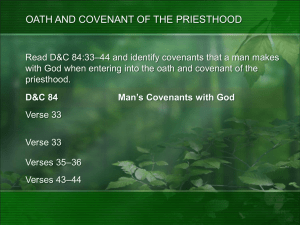 D&C 84 Blessings That God Covenants to Give