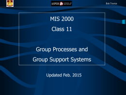 Group Processes and Group Support Systems (GSS)