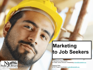 Marketing to Job Seekers - American Library Association