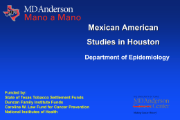 slide presentation - MD Anderson Cancer Center