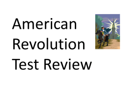 8th - 10th American Revolution Review I