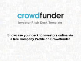 Free Investor Pitch Deck Template