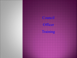 COUNCIL LEADERSHIP TRAINING