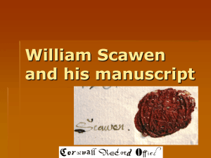 William Scawen and his manuscript