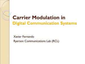Carrier Modulation in Digital Communication Systems