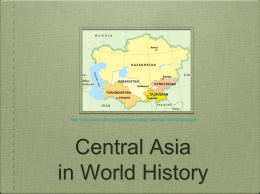 Literature: A Gateway into Central Asia