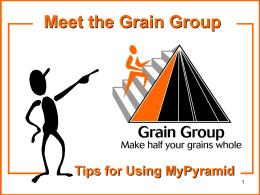 Whole Grains - School Nutrition and Fitness