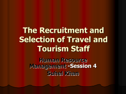 Recruitment and Selection Lecture 4