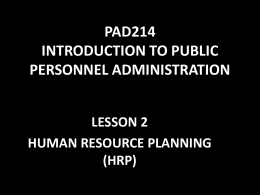 pad214 introduction to public personnel administration lesson