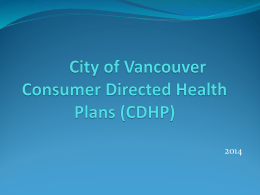 CDHP - City of Vancouver