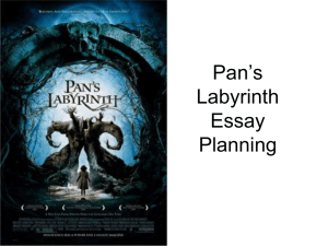 Pan`s Labyrinth essay plan