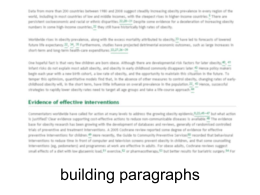 Writing Paragraphs - Student Learning Development