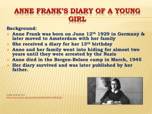 "Anne Frank`s ""Diary of a Young Girl"""