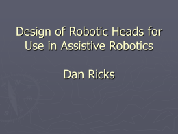 Assistive Robotics