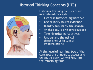 Historical Thinking Concepts (HTC)