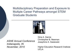 Multidisciplinary Preparation and Exposure to Multiple Career