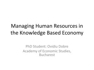 Managing Human Resources in the Knowledge Based