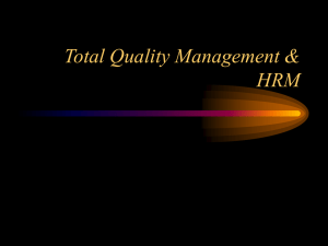 Total Quality Management & HRM TQM